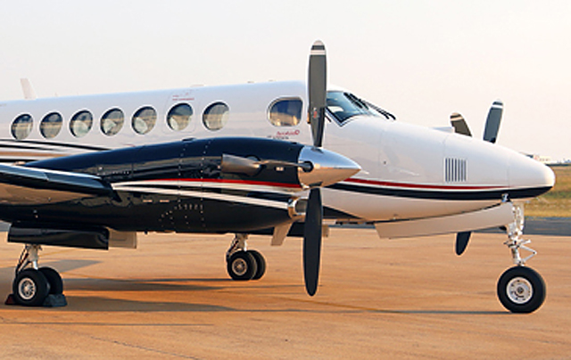 King Air 350 close up