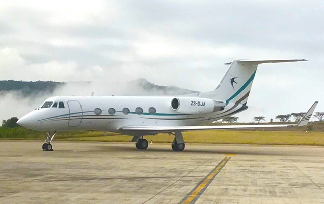 Gulfstream GIIB on the tarmac
