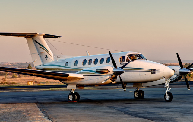 King Air 200 on the runway